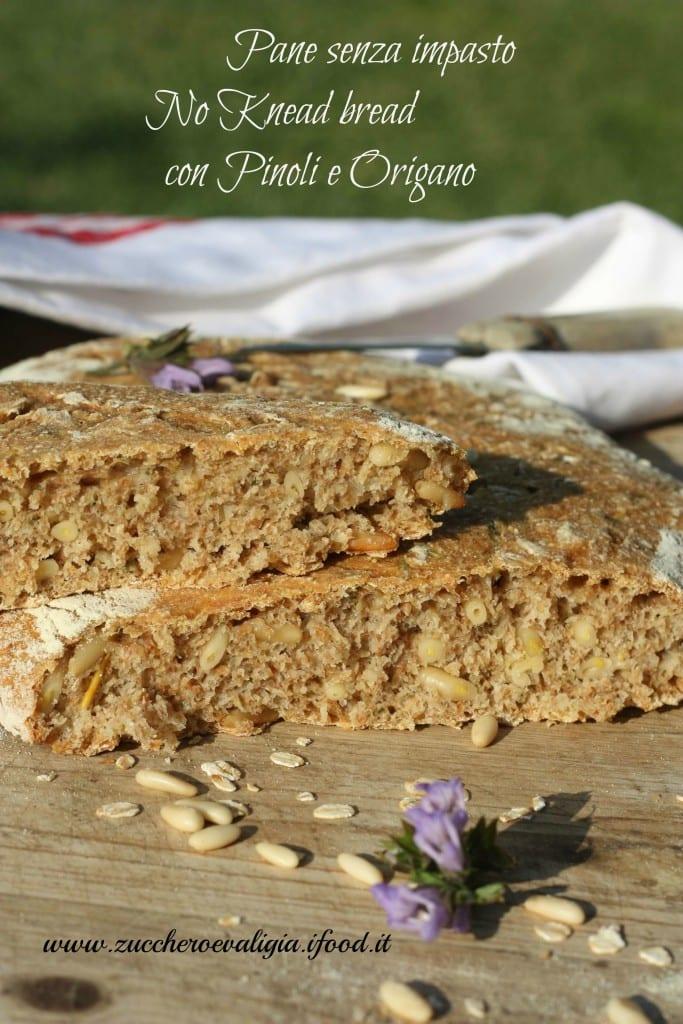 Pane senza impasto Pinoli e origano
