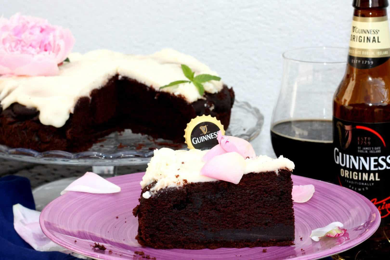 Guinness Chocolate Cake fetta zuccheroevaligia