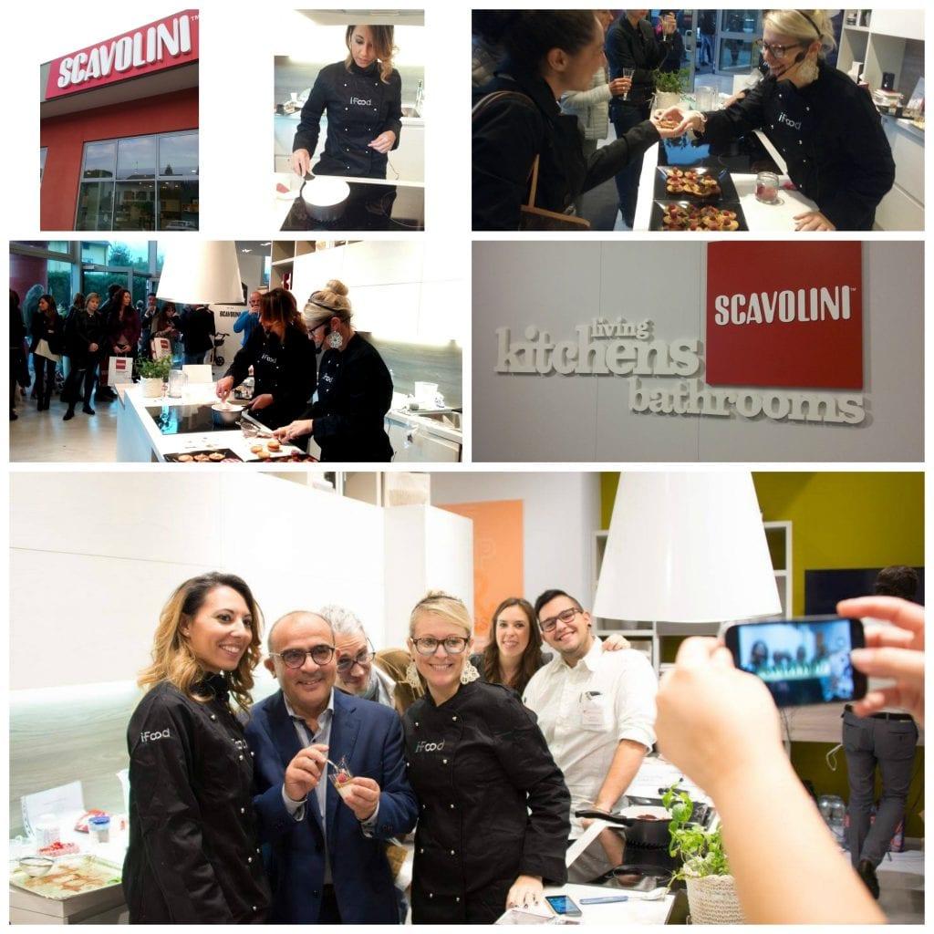 Show cooking inaugurazione Scavolini Store di Carvico con panna cotta
