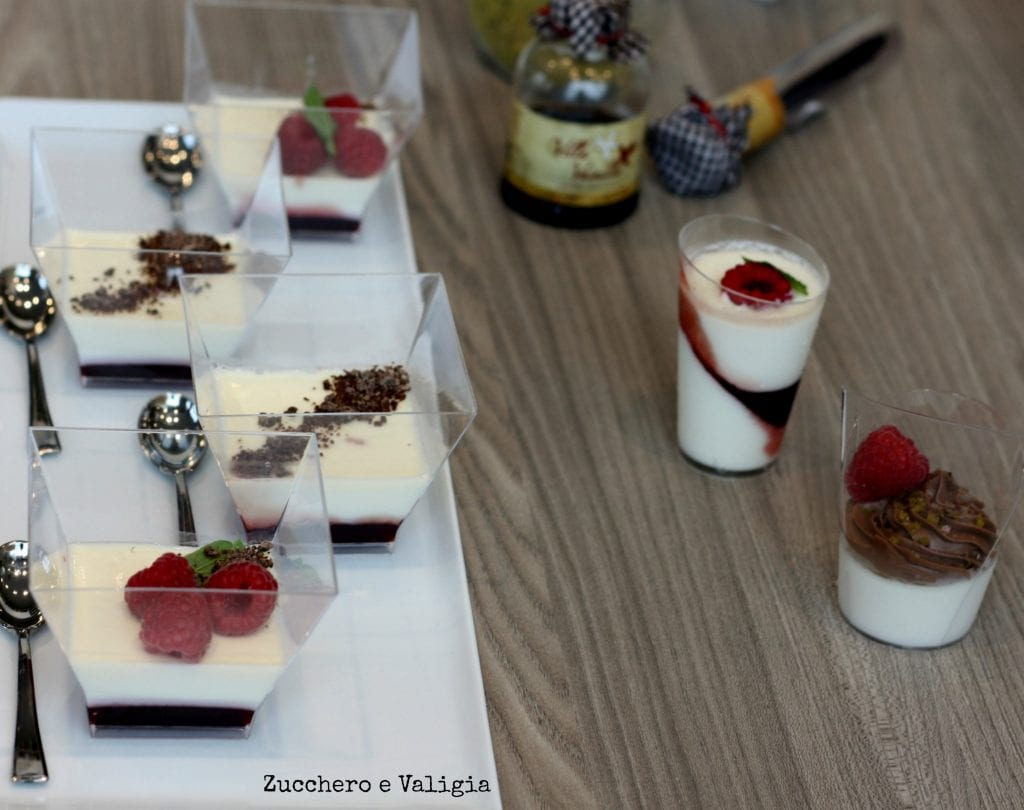Show cooking inaugurazione Scavolini Store di Carvico panna cotta e tartellette