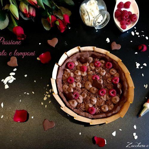 Torta Passione Cioccolato e lamponi Crostata di Gianluca Fusto