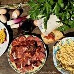 Frittata con asparagi selvatici, ricotta e soppressata