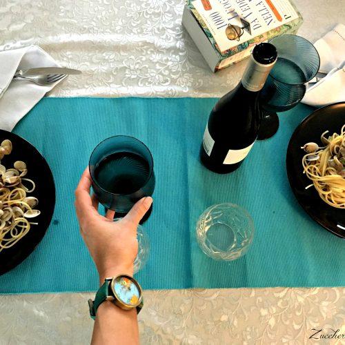 Spaghetti alle vongole abbinato al vino Feudi Branciforti