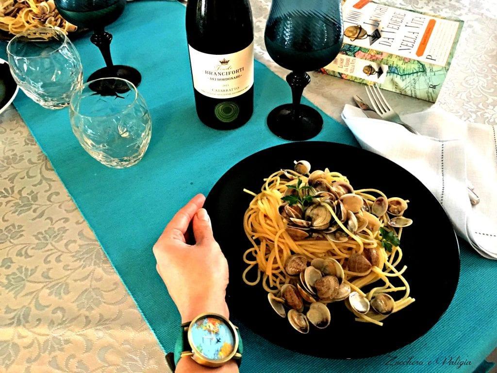 Spaghetti alle vongole con Vino Feudi Branciforti