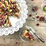 Torta Frangipane con fichi e lamponi