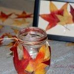 Come creare una lanterna e un quadretto con le foglie colorate dell'autunno