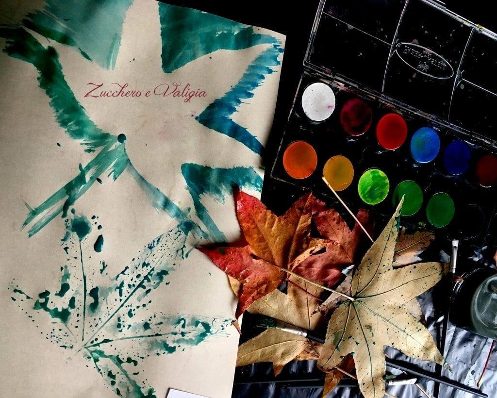 Creare e divertirsi con le foglie colorate dell'autunno