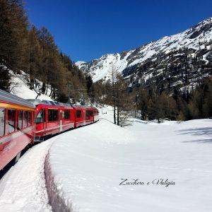 Bernina Express -Trenino Rosso del Bernina- viaggio in famiglia con bimba
