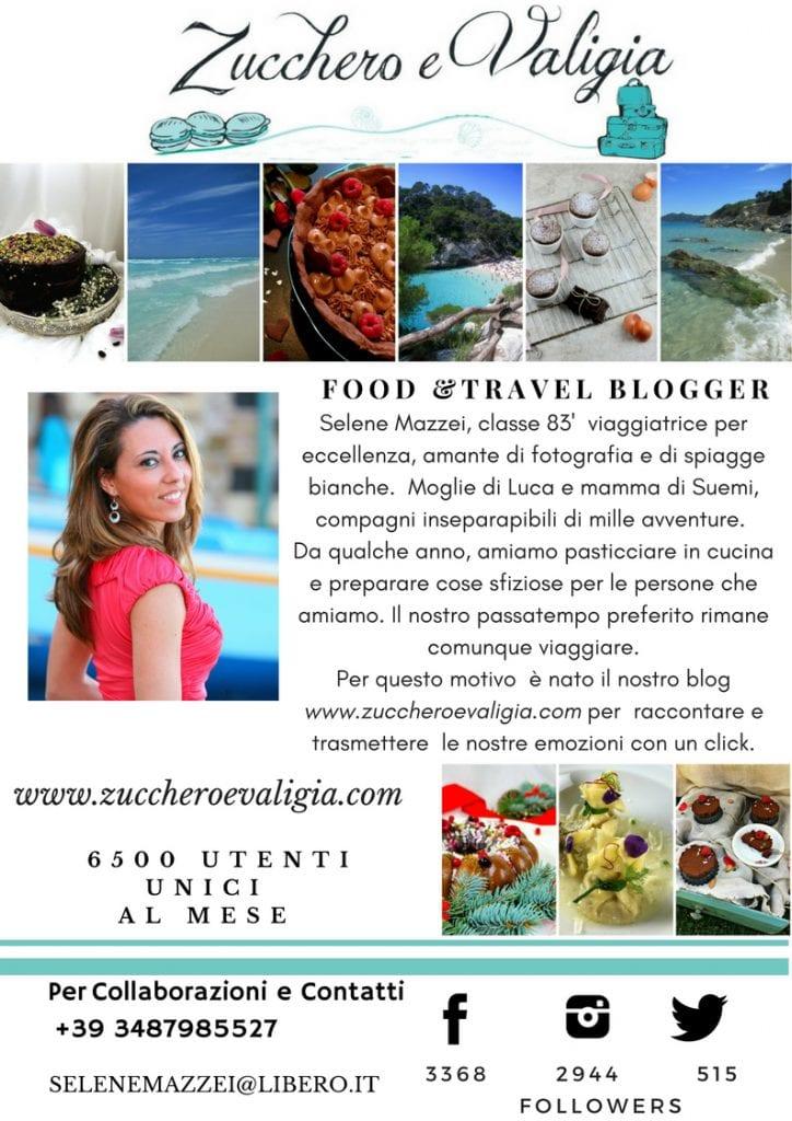Media-Kit Zucchero e Valigia Food Travel Blogger