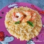 Risotto gamberi e crema di pomodorini un piatto per tutta la famiglia